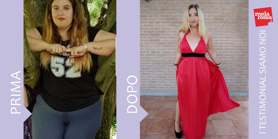 Influenzer di Melarossa: dieta melarossa erica 30 kg