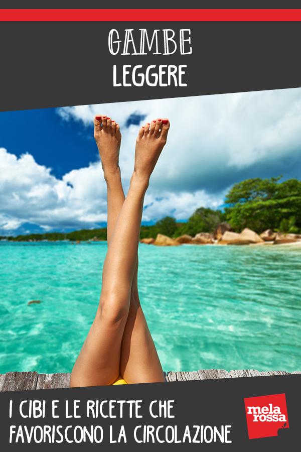 gambe leggere: il menu da adottare questo estate