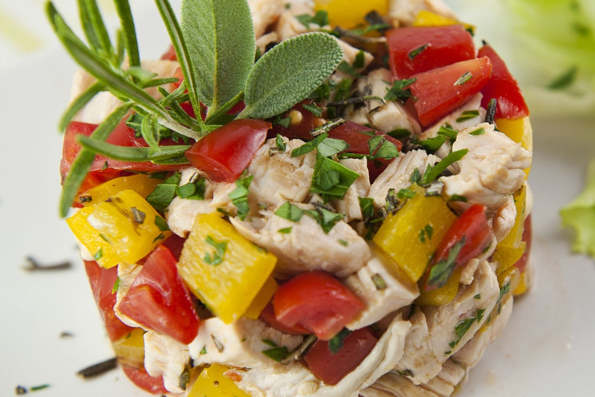 insalata di tacchino marinato