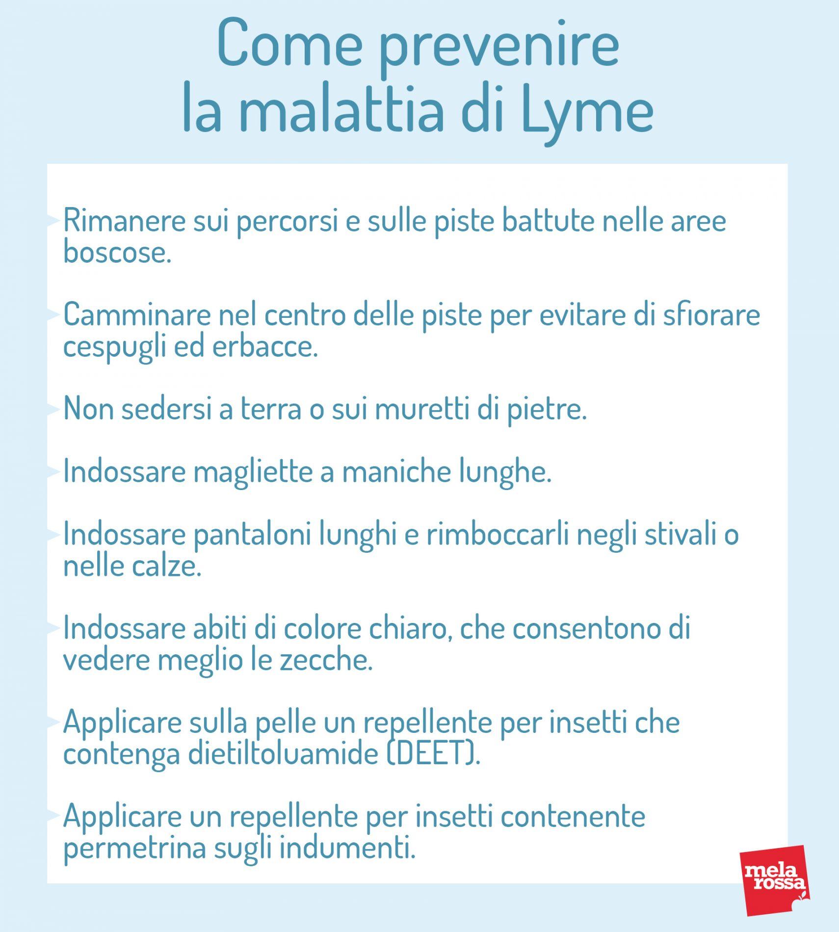 come prevenire la malattia di Lyme: comportamenti