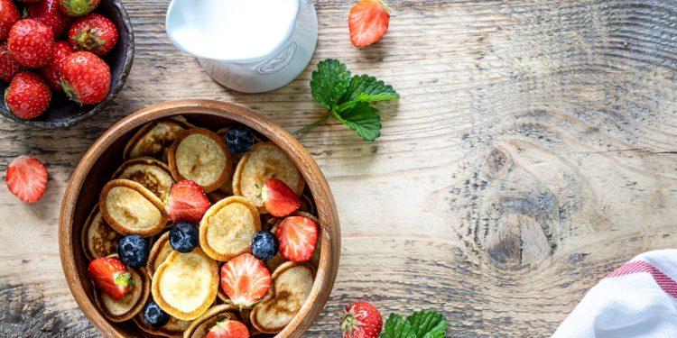 mini pancakes per una colazione sana