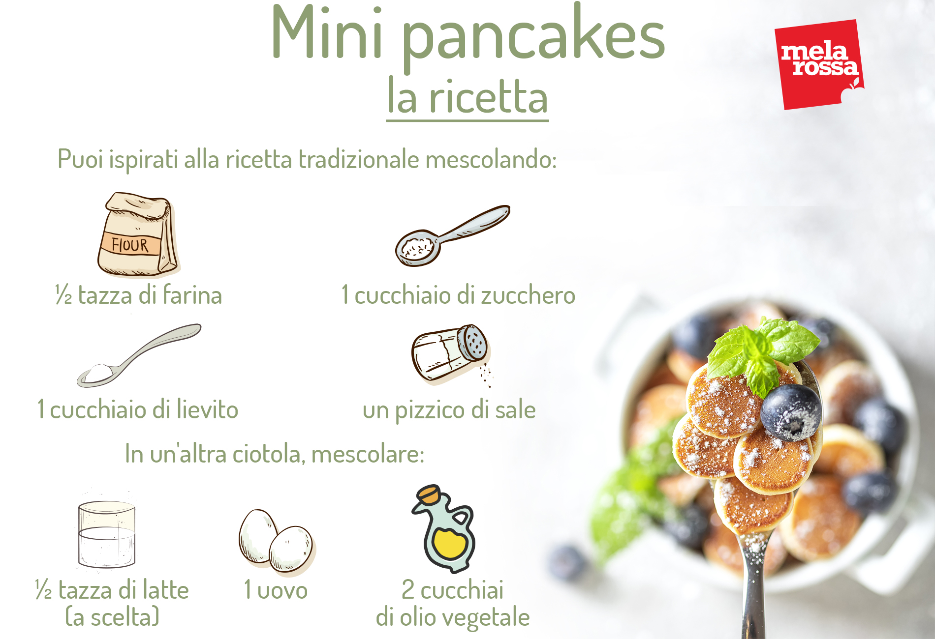 Mini pancakes: la ricetta