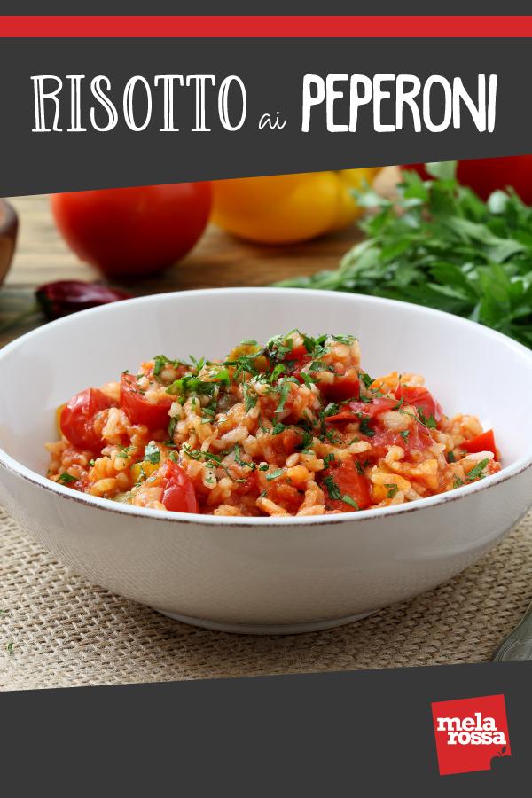 risotto ai peperoni: una ricetta facile, sana per fare il pieno di vitamina C