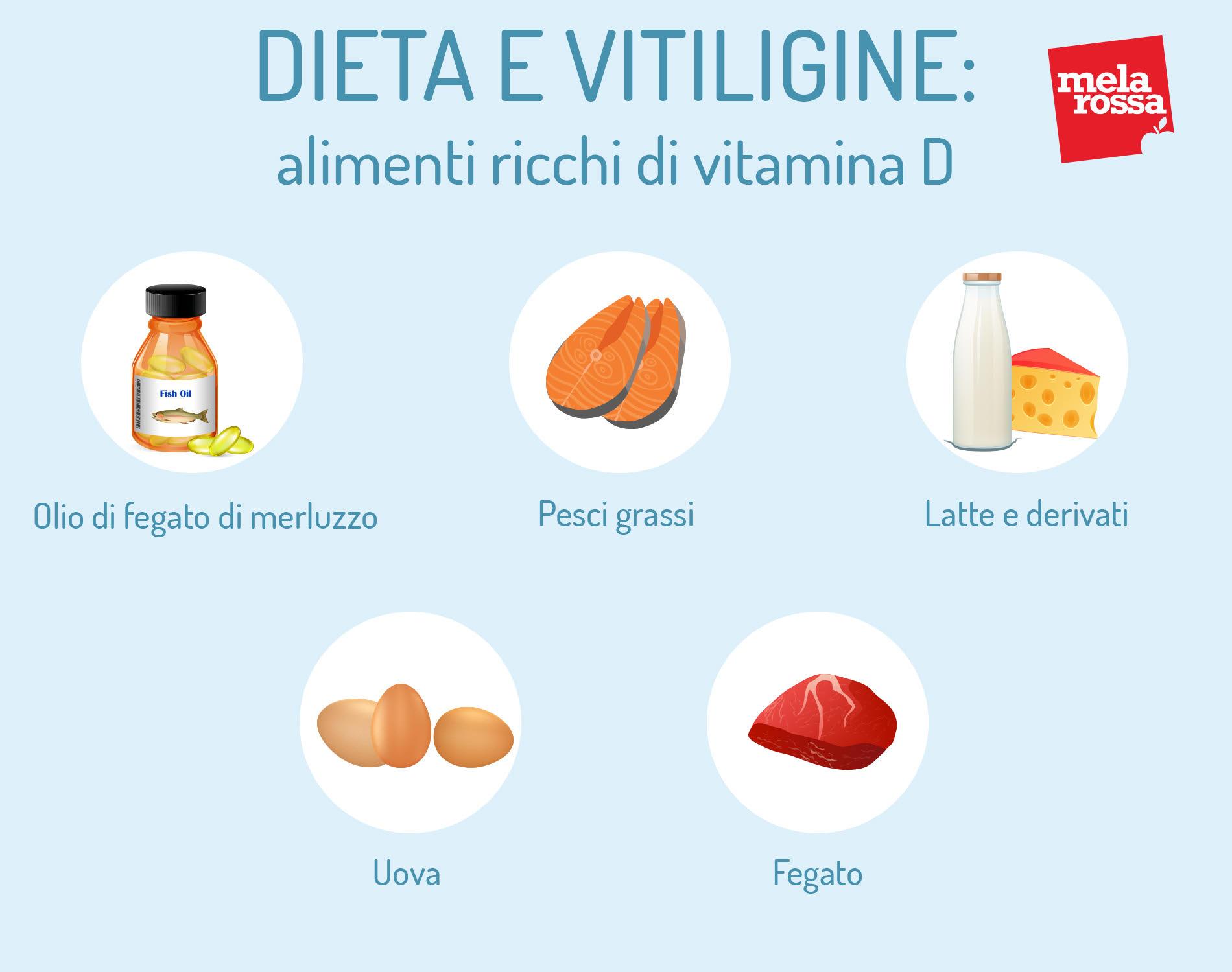 dieta e vitiligine: alimenti ricchi di vitamina D