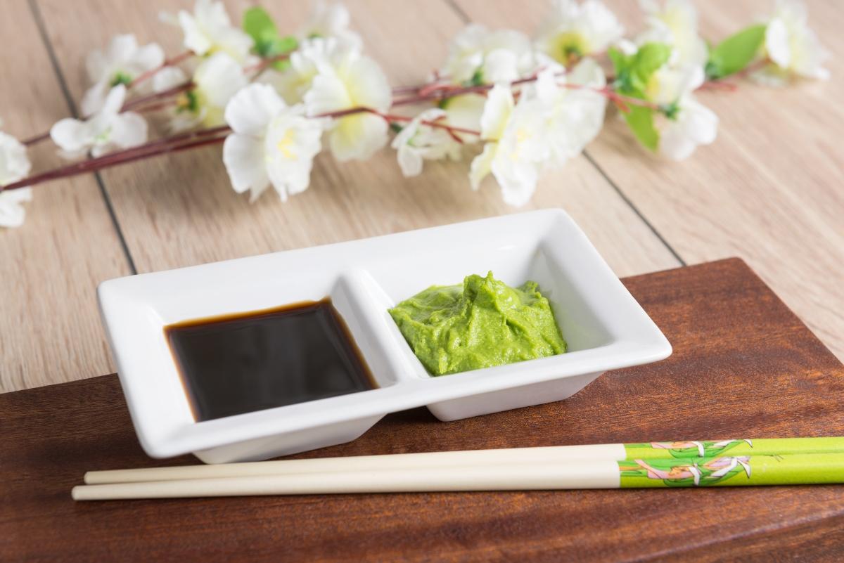 wasabi e salsa di soia