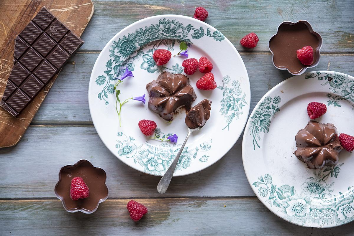 agar agar: budino al cioccolato