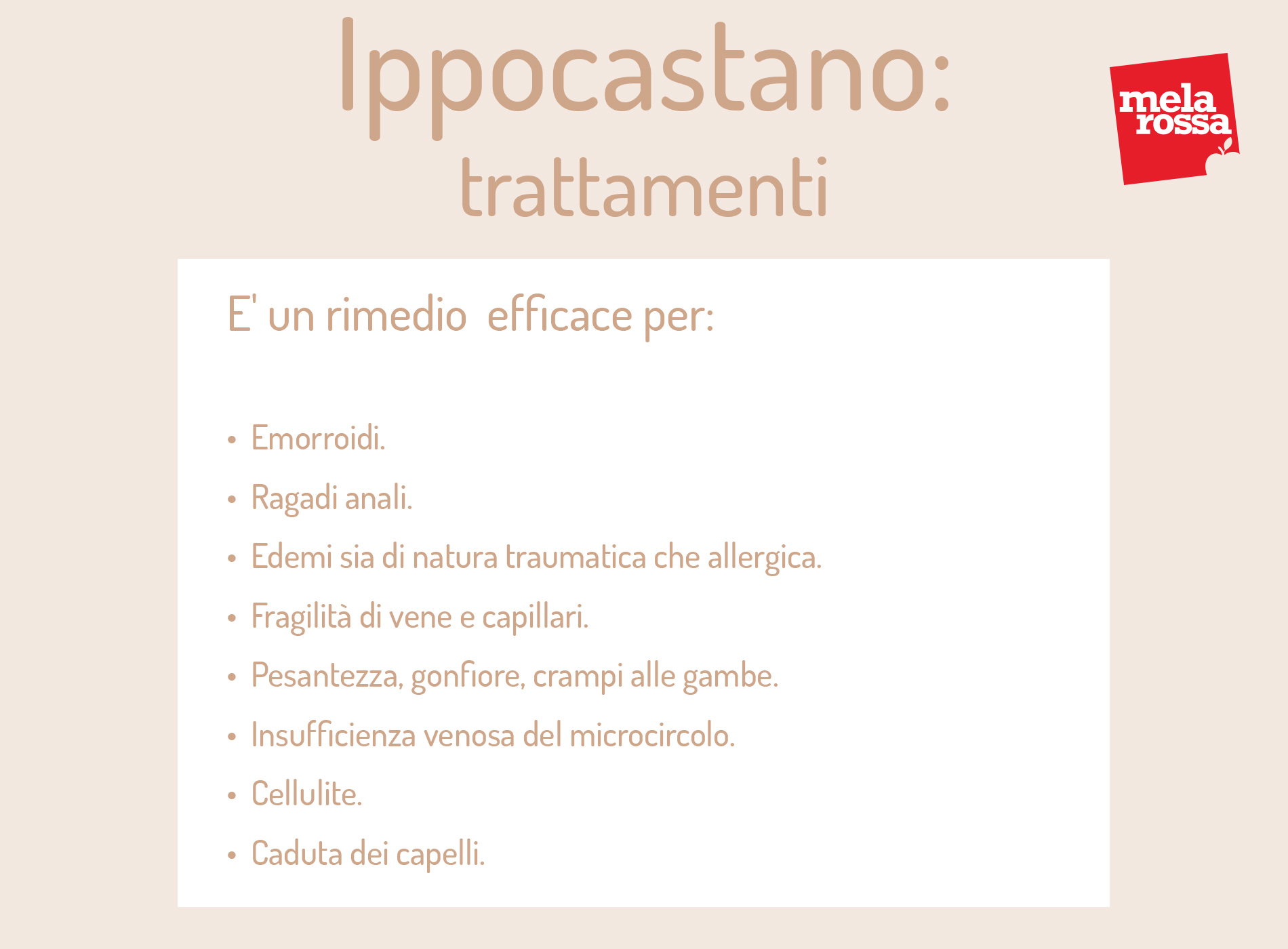 Ippocastano: rimedio efficace per