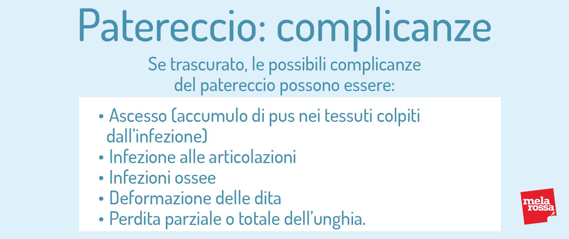 patereccio: complicanze