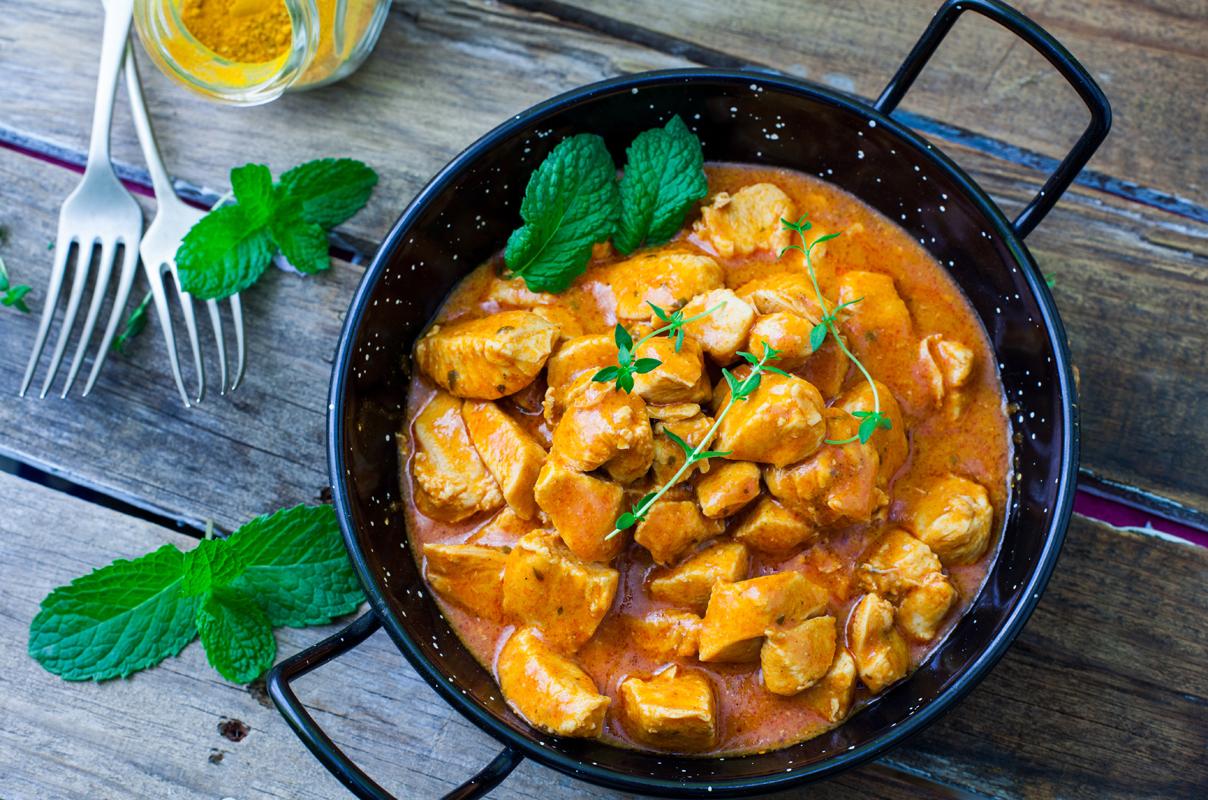 secondi piatti veloci: pollo al curry