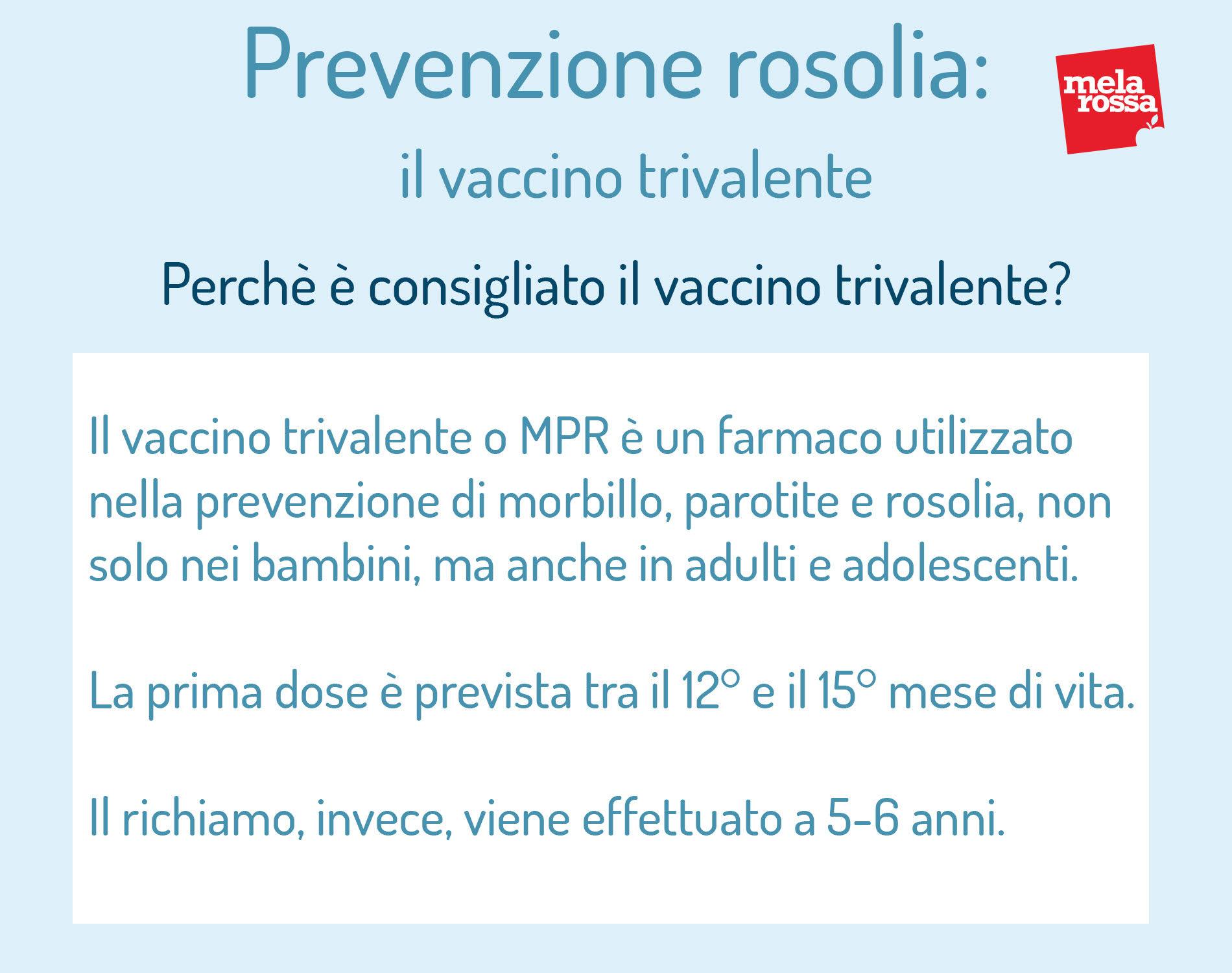 rosolia: prevenzione, perché è consigliato fare il vaccino trivalente e quando farlo