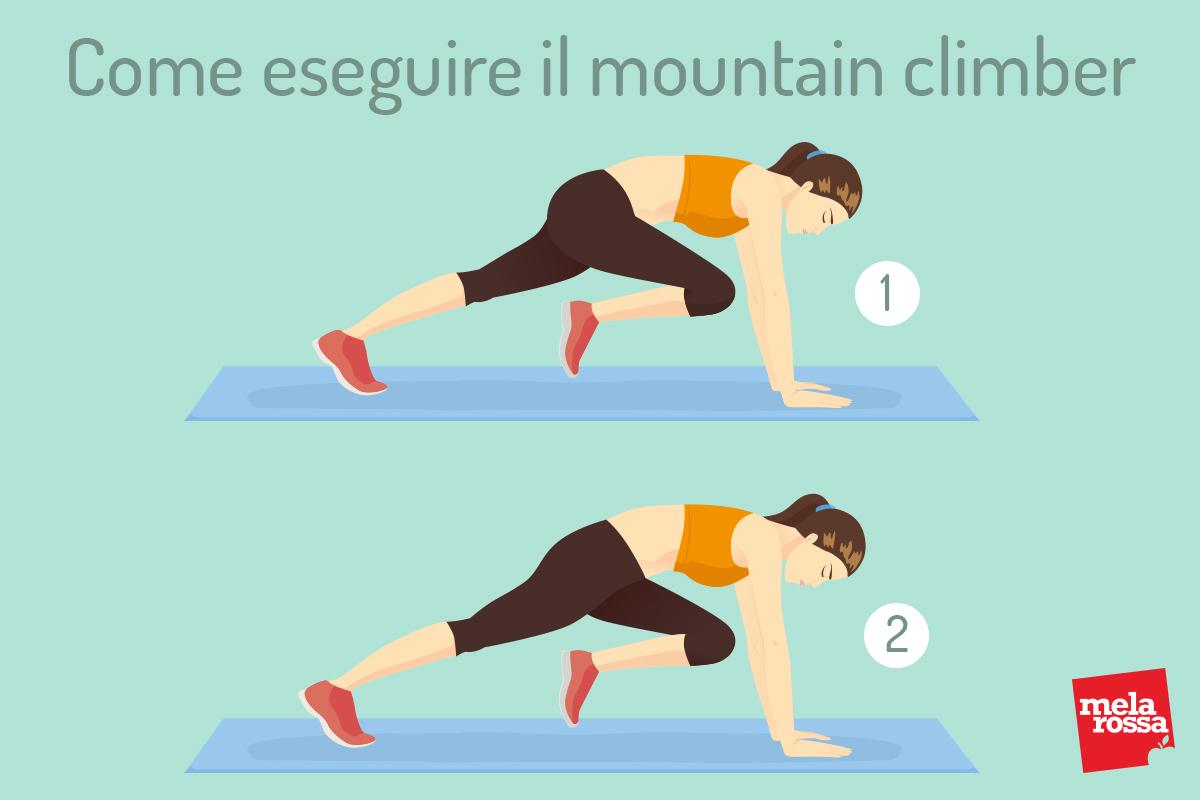 tabata: come eseguire il mountain climber