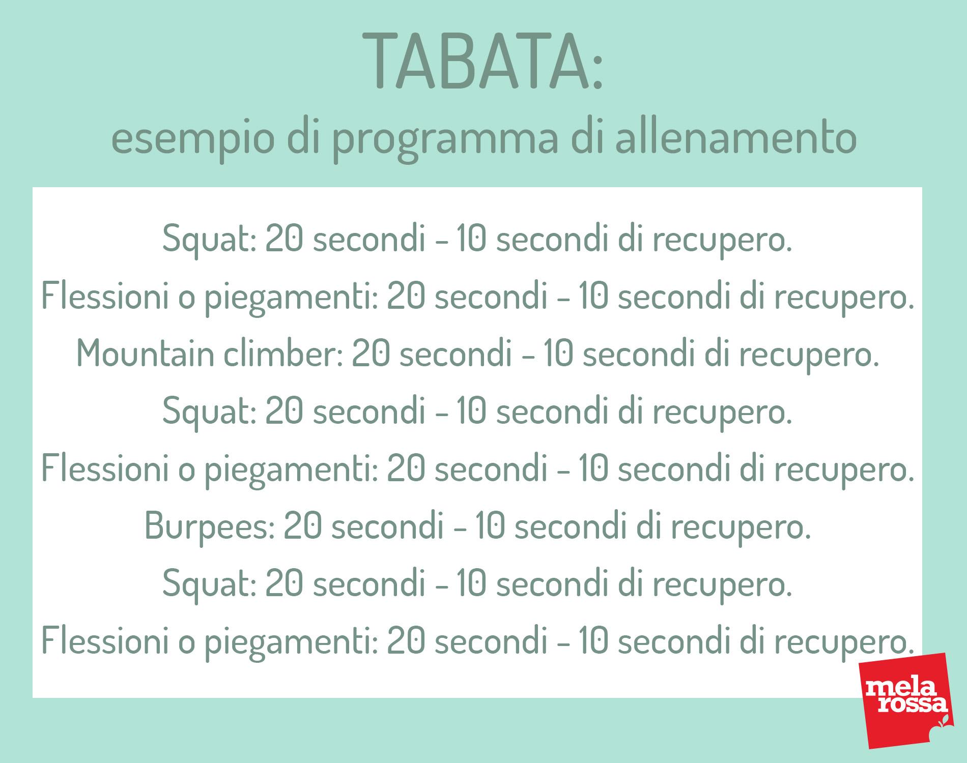 tabata: esempio di allenamento
