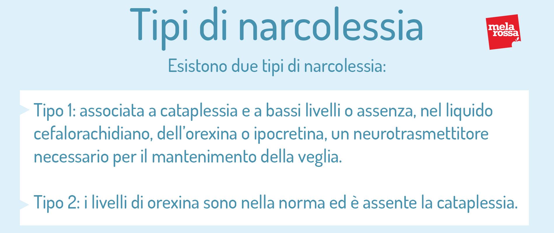tipi di narcolessia