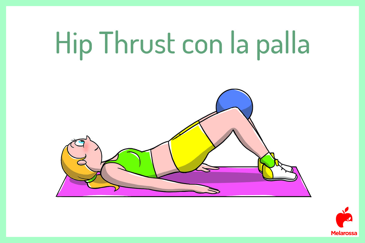 Hip thrust con la palla