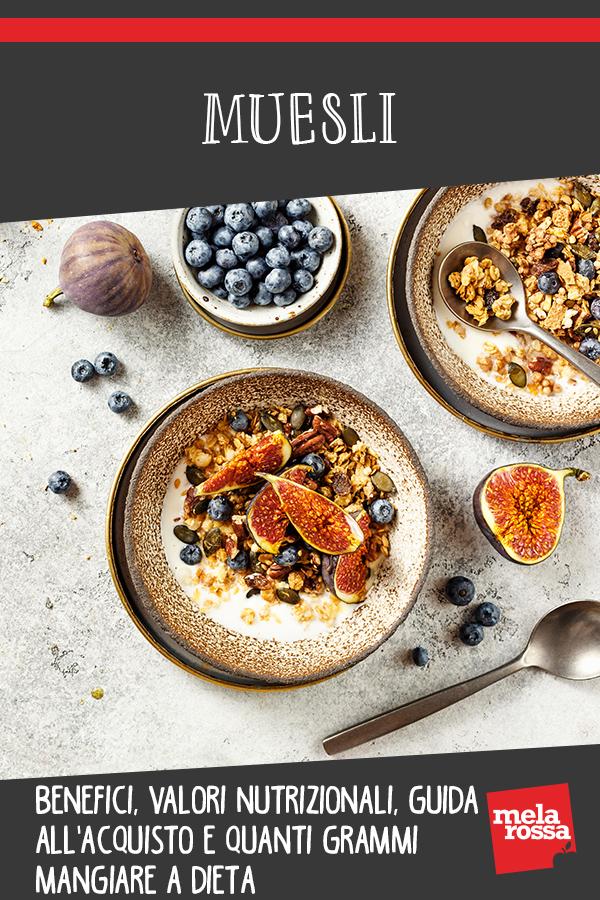 muesli: valori nutrizionali, guida all'acquisto e quanti grammi mangiare a dieta