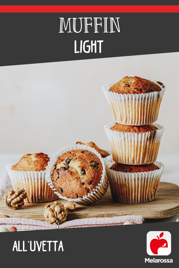 muffin light con uvetta
