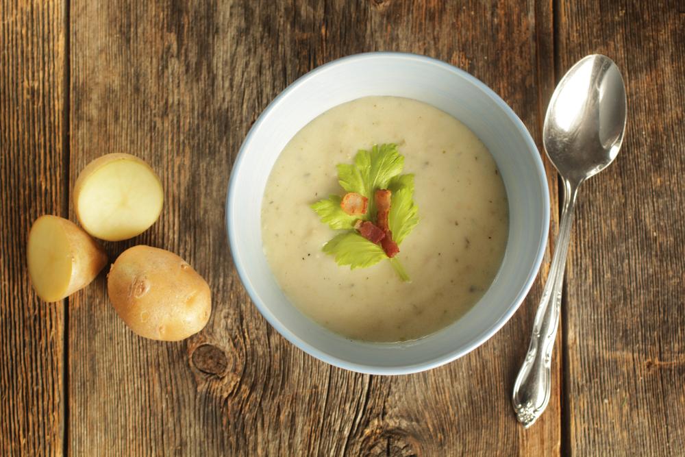 Zuppa di patate con alloro