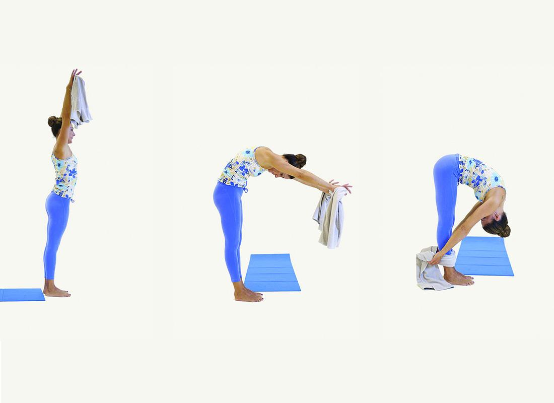 smart working: esercizi per allungare la schiena