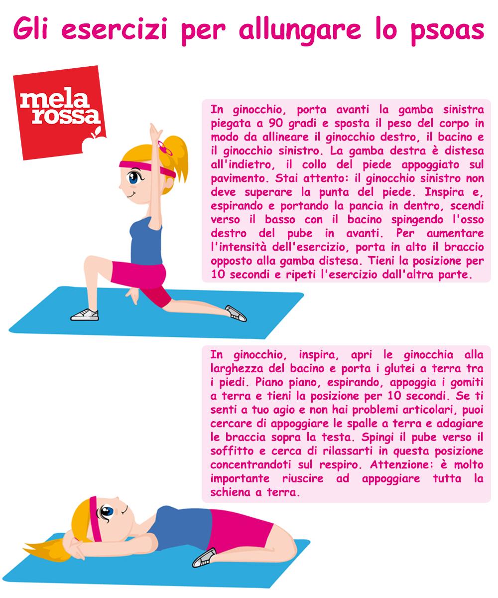 smart working : esercizi per allungare lo psoas