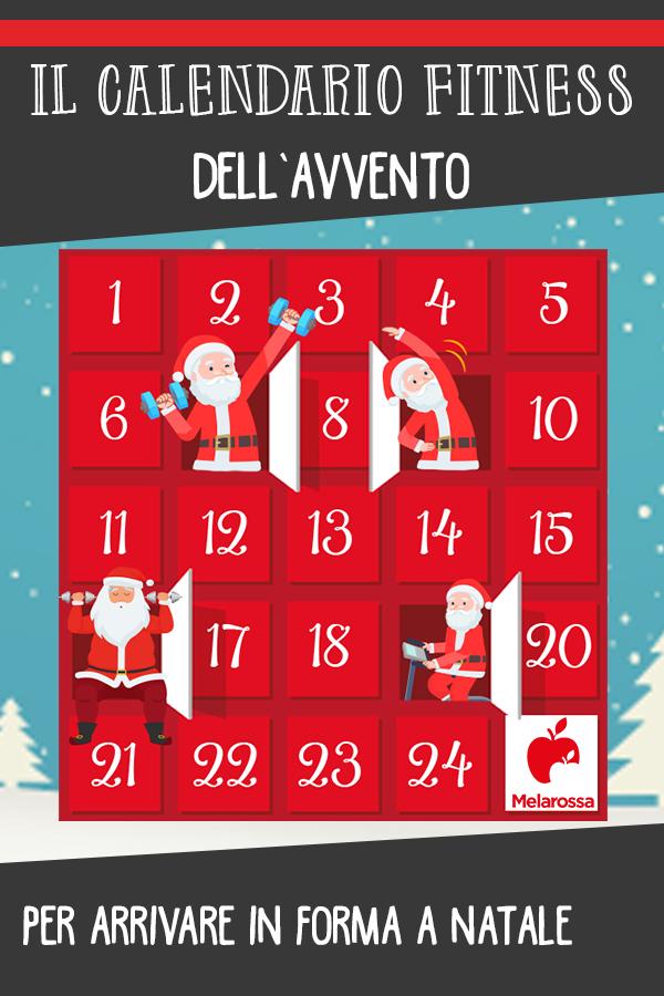 calendario dell'Avvento: un esercizio al giorno per arrivare in forma a Natale