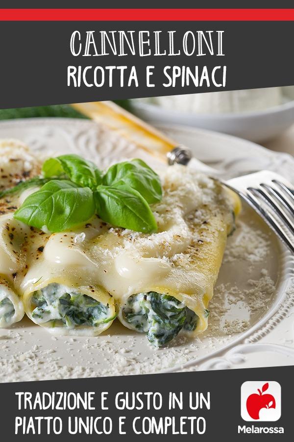 cannelloni ricotta e spinaci: la ricetta sana