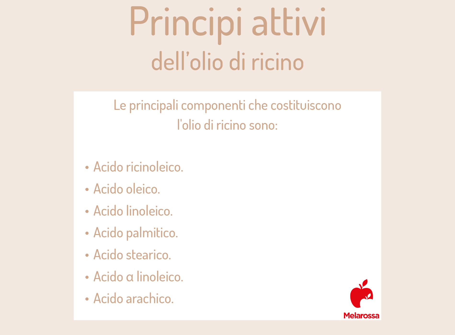 olio di ricino: principi attivi