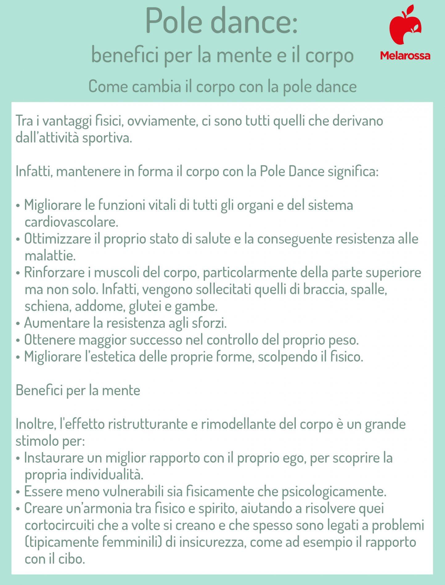 pole dance: benefici mentali e fisici
