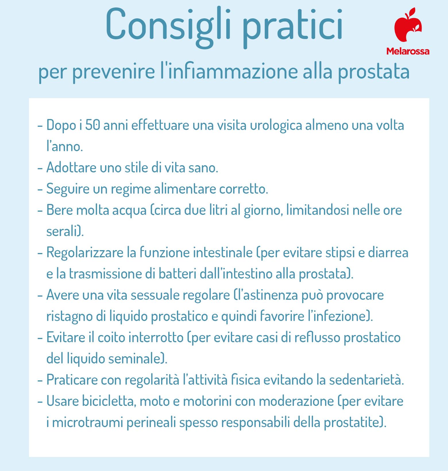 prostatite; prevenzione
