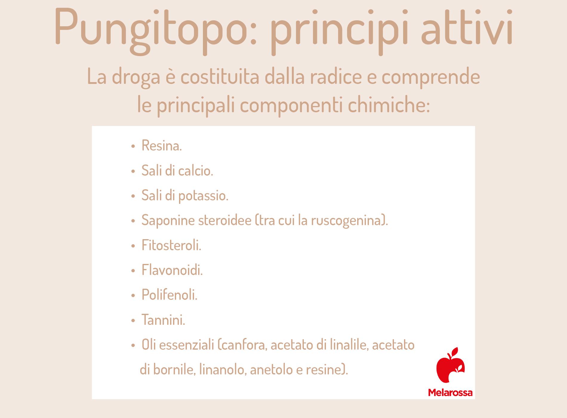 pungitopo: principi attivi