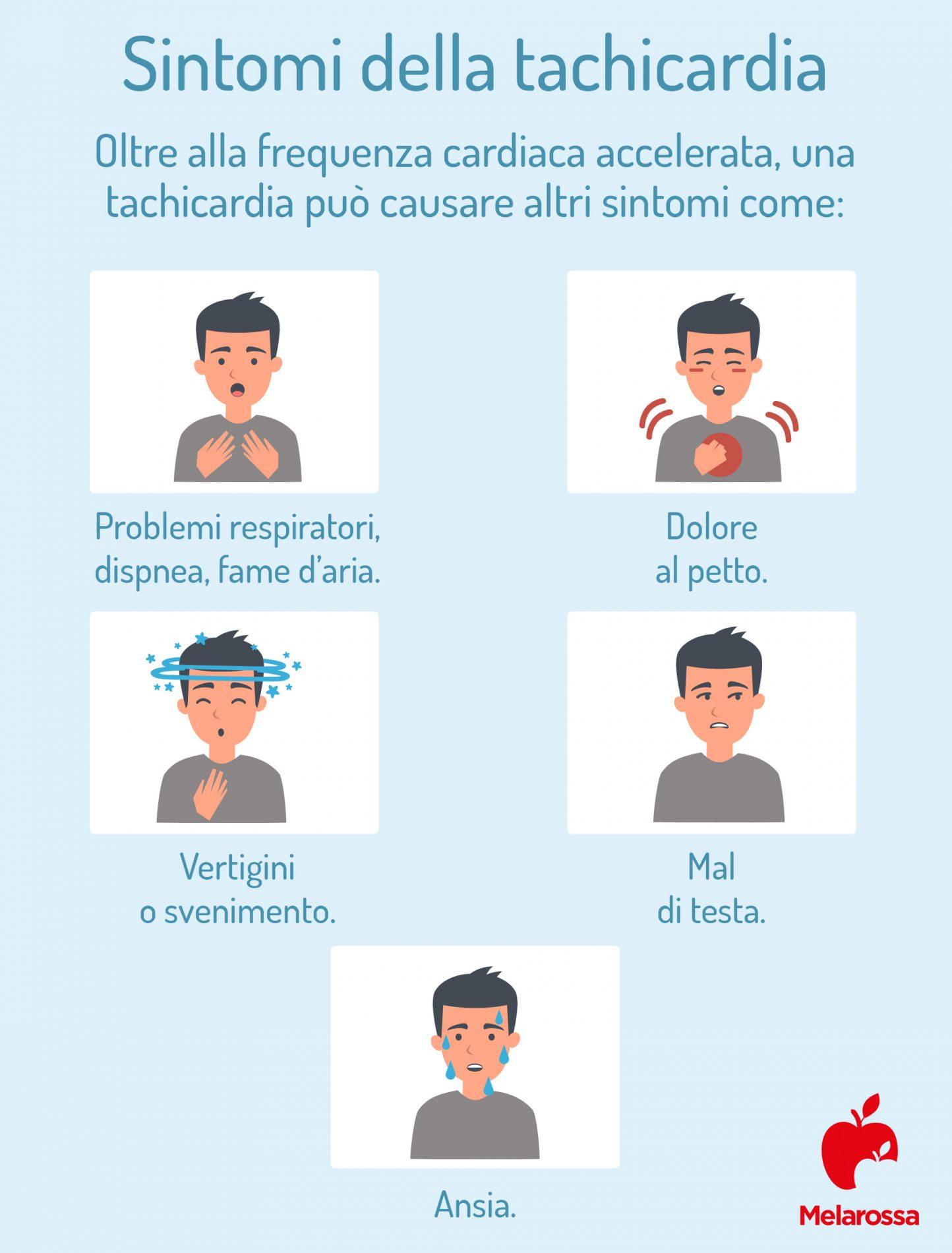 sintomi della tachicardia
