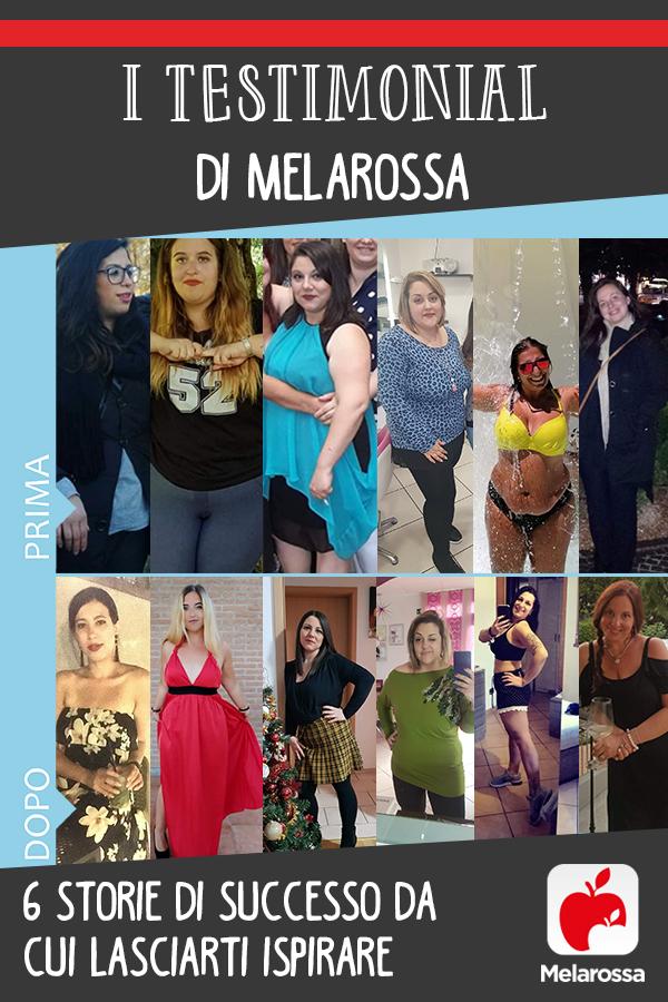 testimonial di Melarossa: chi ha perso peso con la dieta