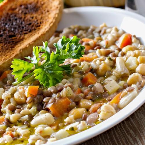 zuppa cereali fagioli