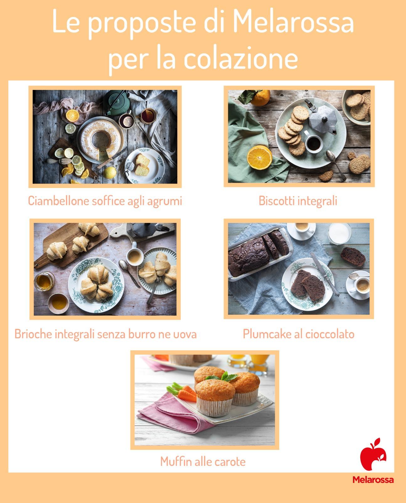 Le proposte di Melarossa per la colazione