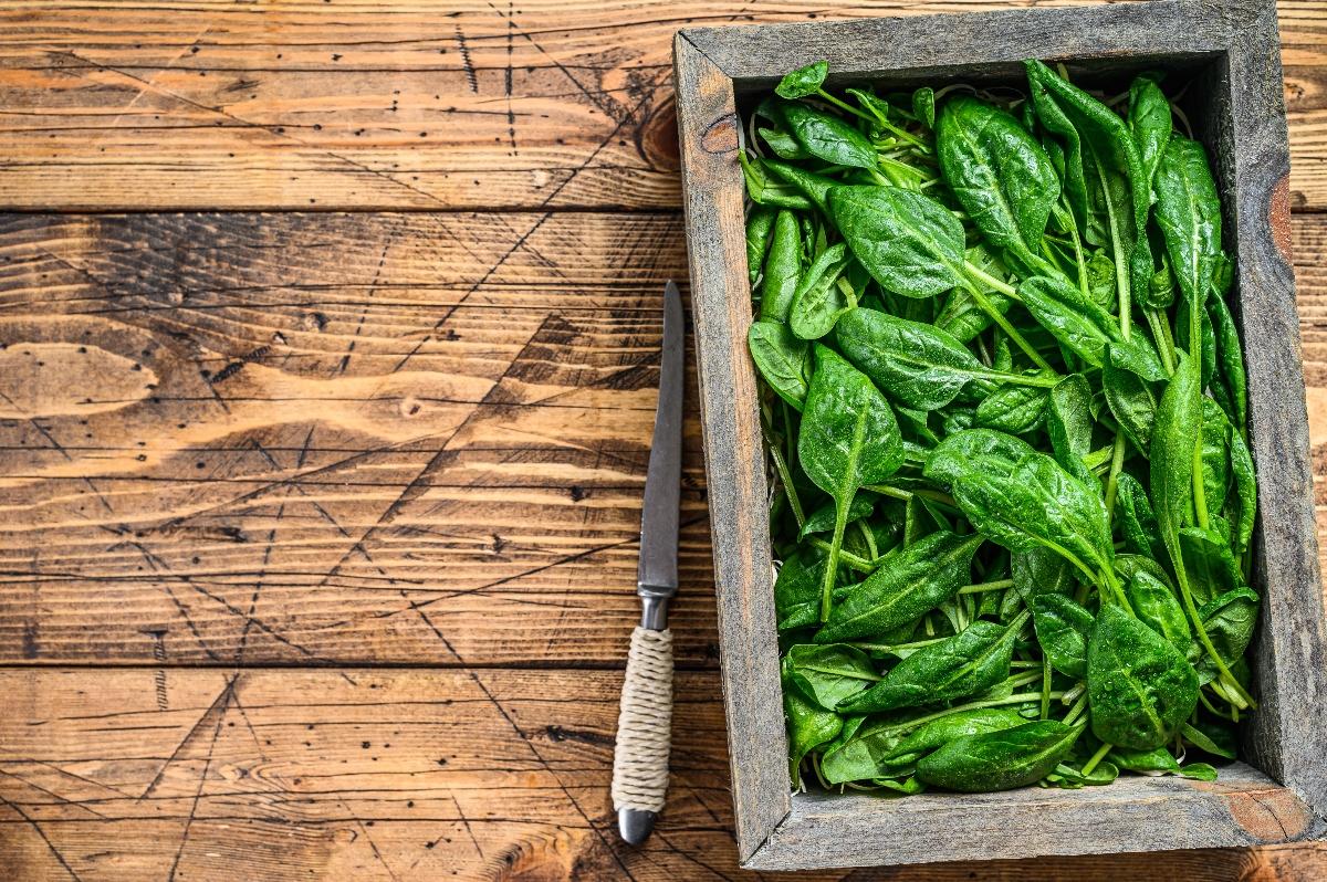 alimenti ricchi di ferro: spinaci