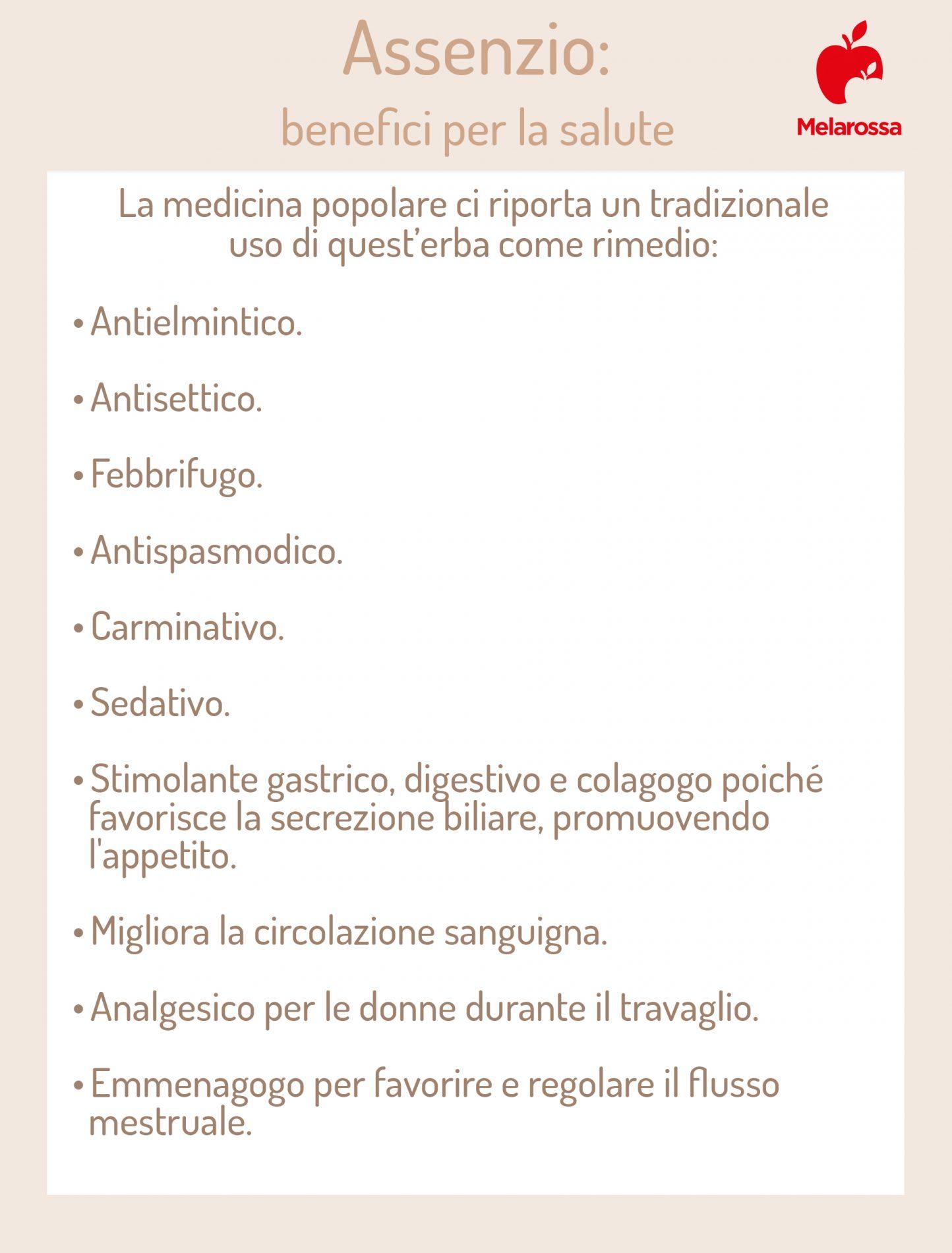 assenzio: benefici per la salute