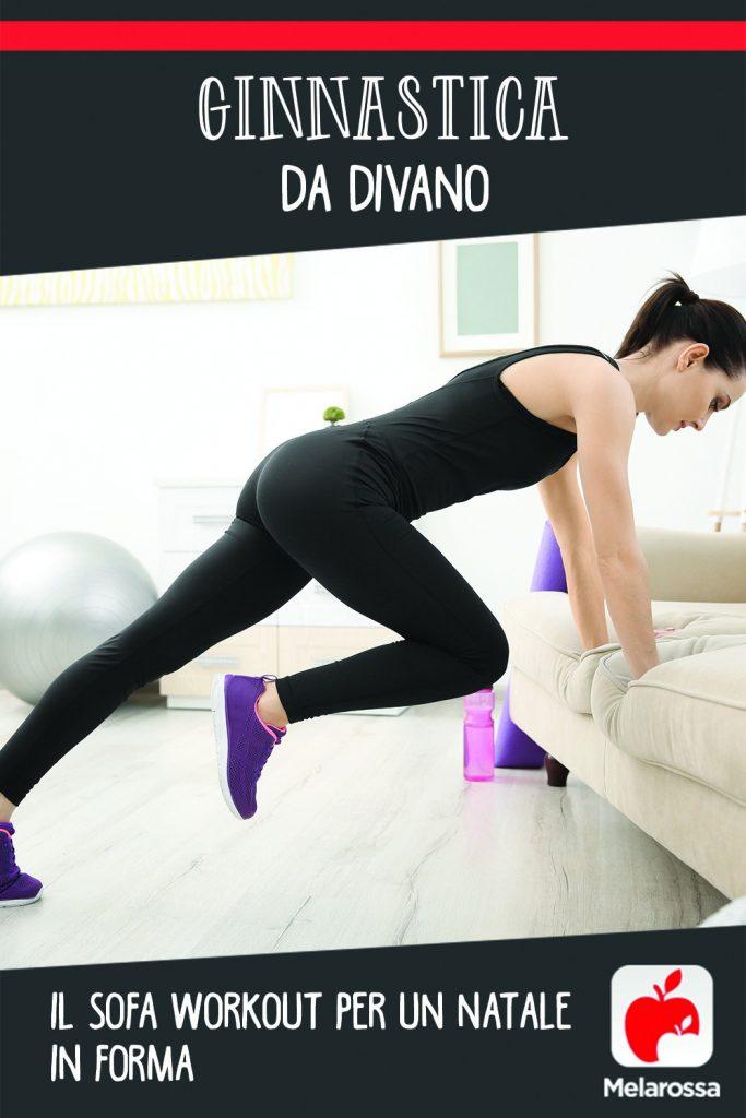 ginnastica da divano: sofa workout per rimanere in forma a Natale