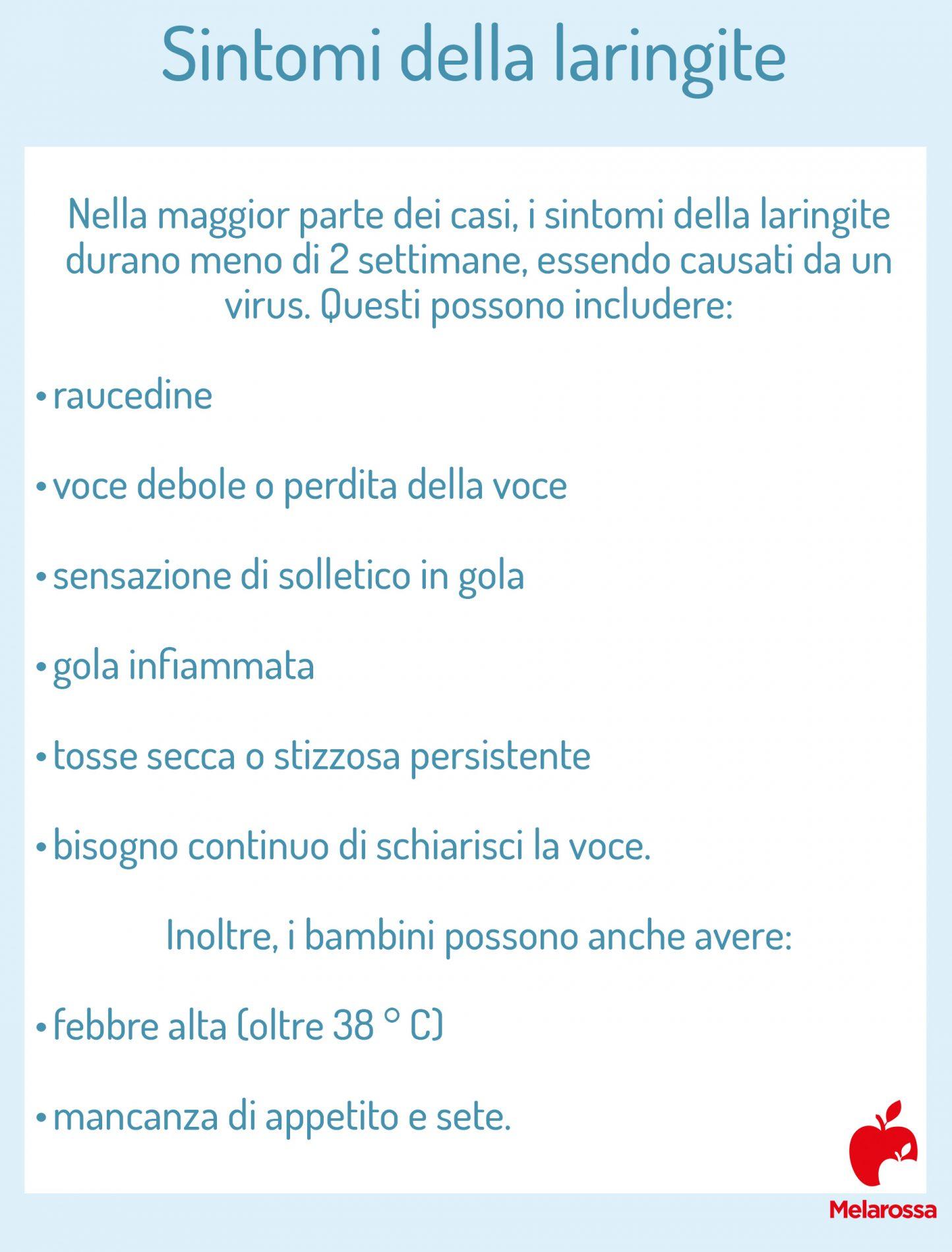 laringite: sintomi