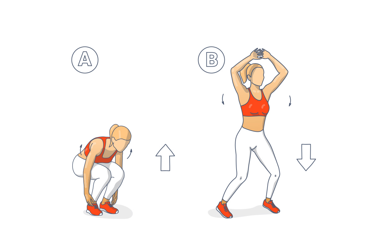 pliometria- squat-jack