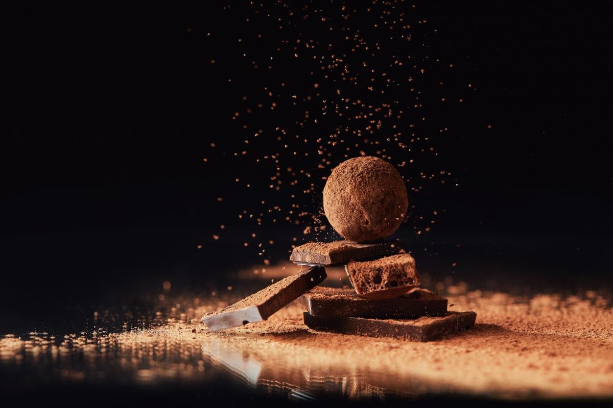 regali golosi da offrire: tartufi al cioccolato