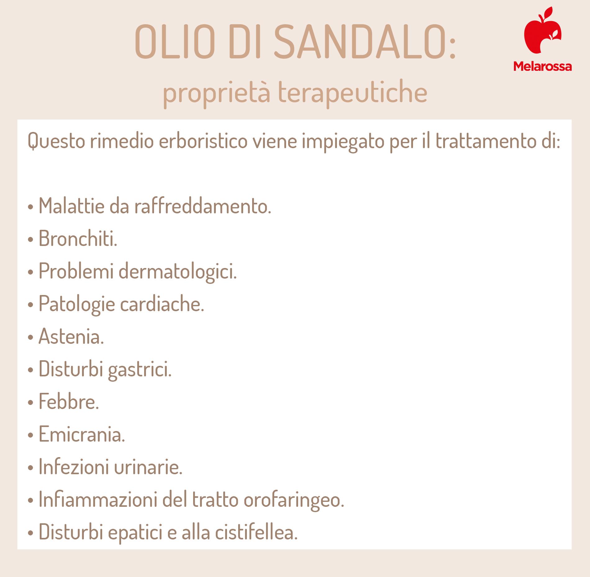 olio di sandalo: proprietà terapeutiche