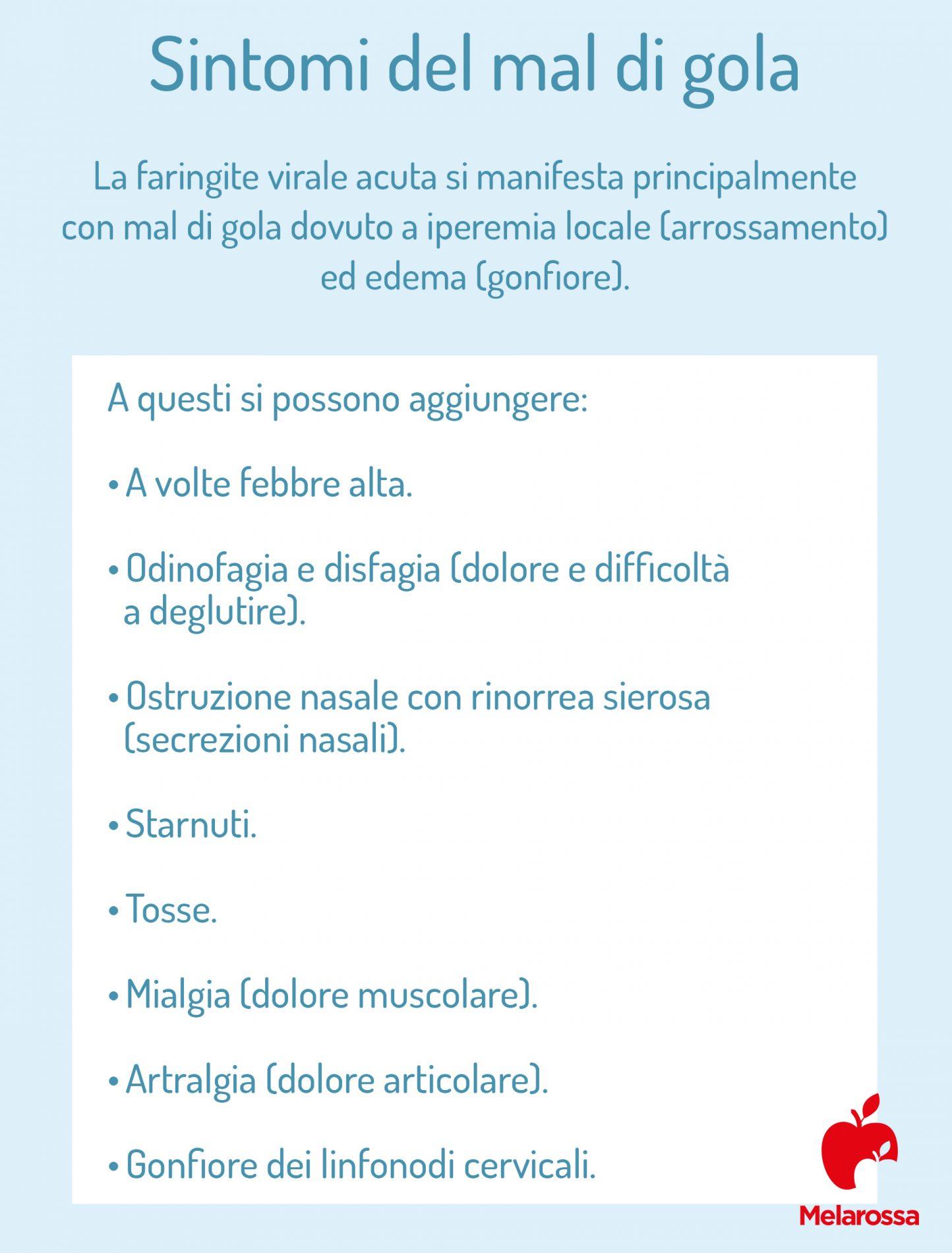 faringite: sintomi