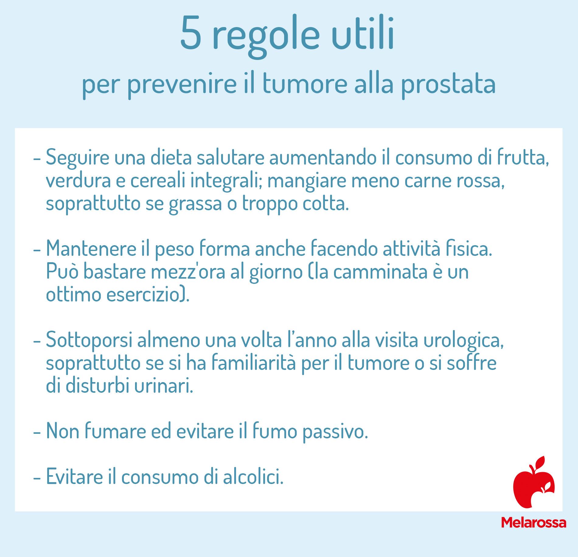 tumore alla prostata: prevenzione