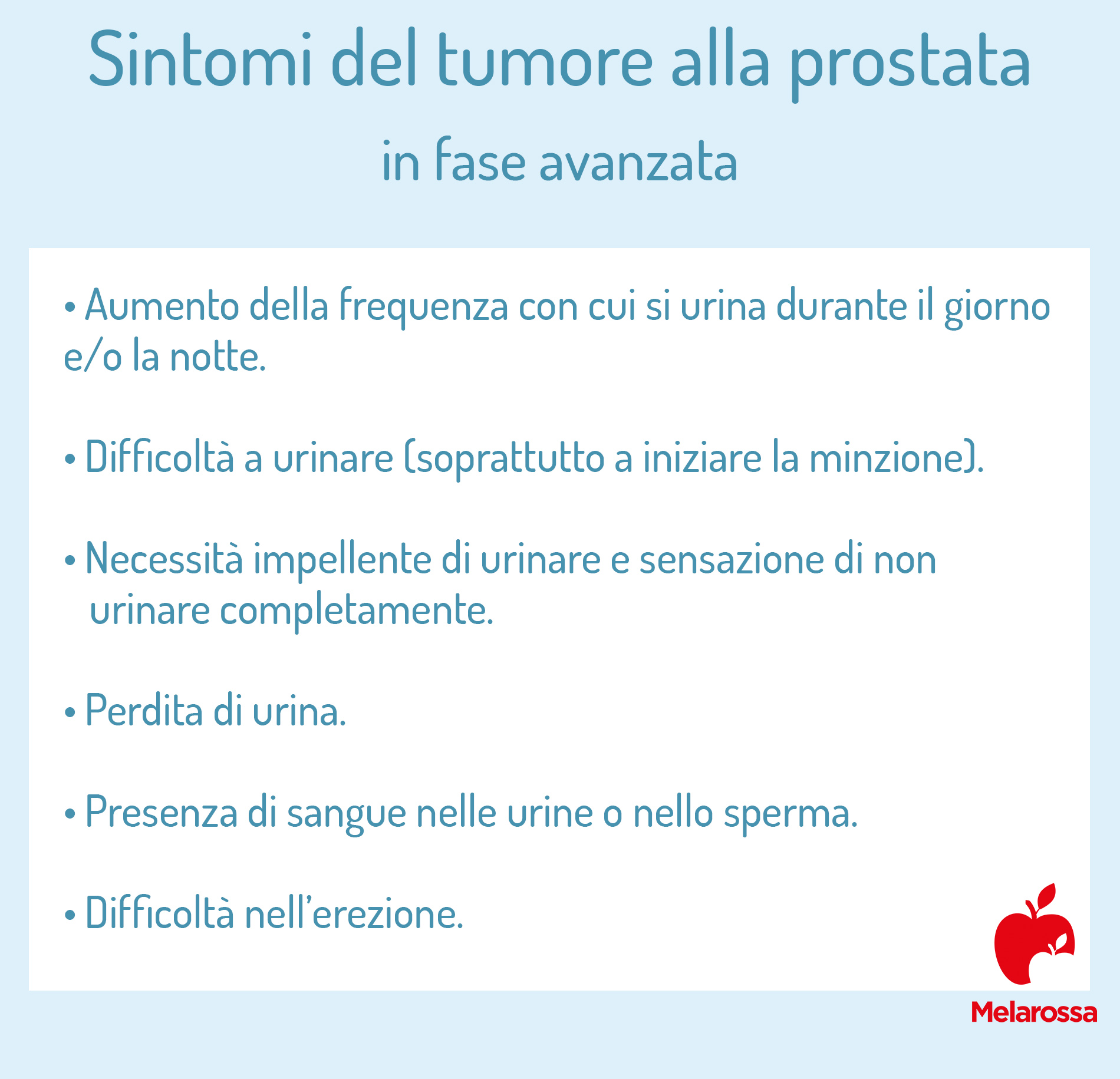 tumore alla prostata: sintomi