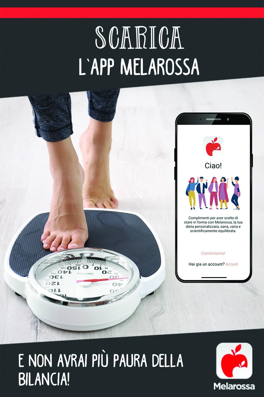 Scarica l'app Melarossa e non avrai più paura della bilancia