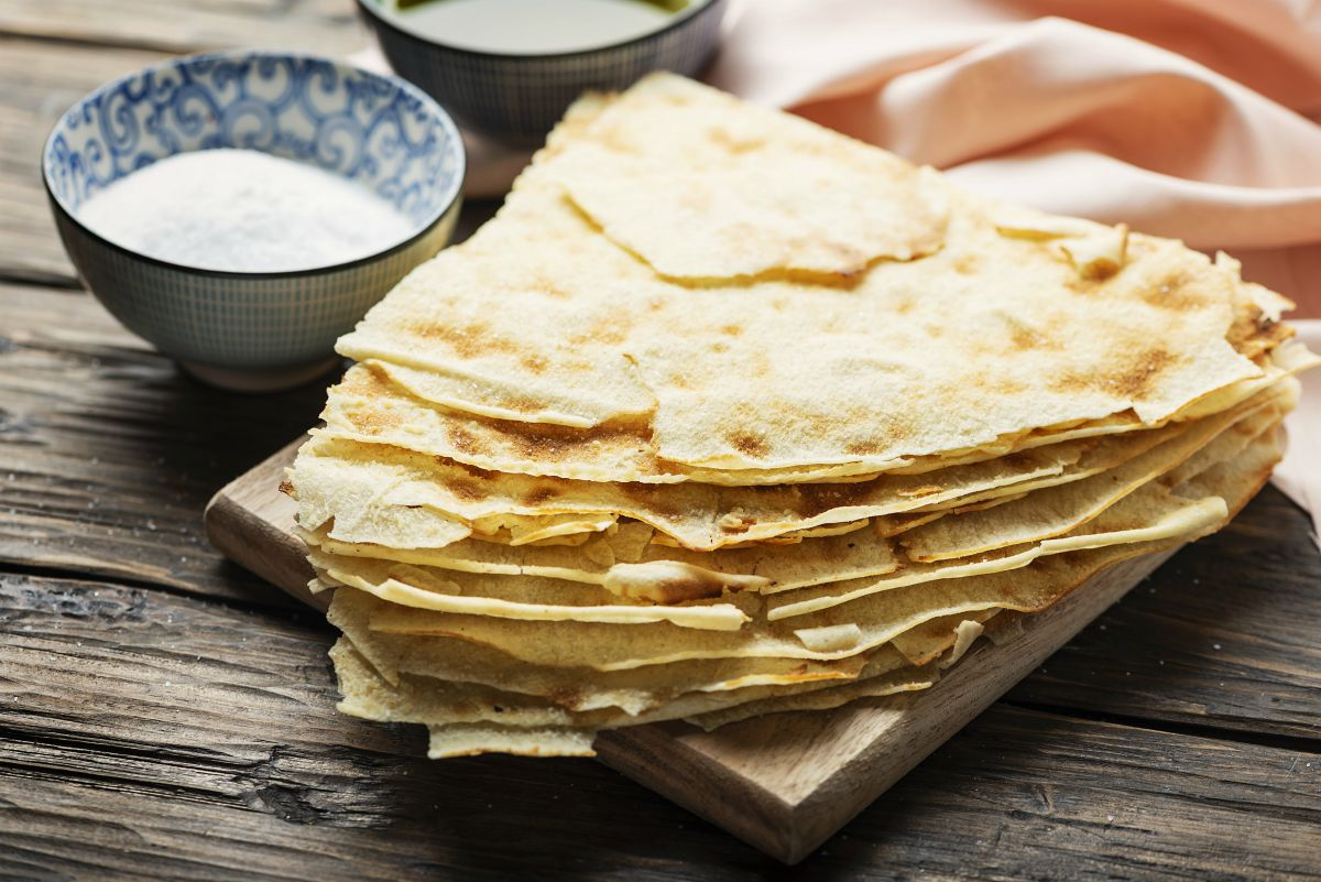 Pane fatto in casa: pane carasau