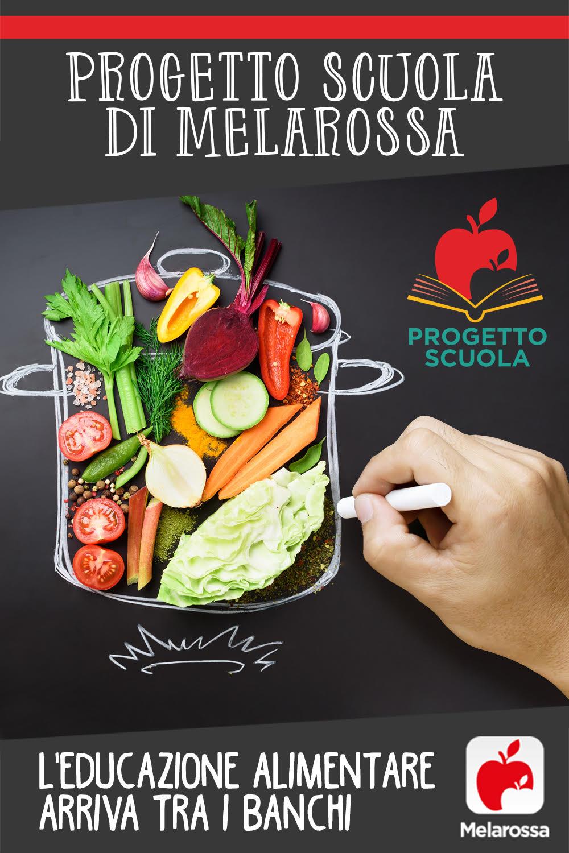 progetto scuola Melarossa: educazione alimentare per le scuole