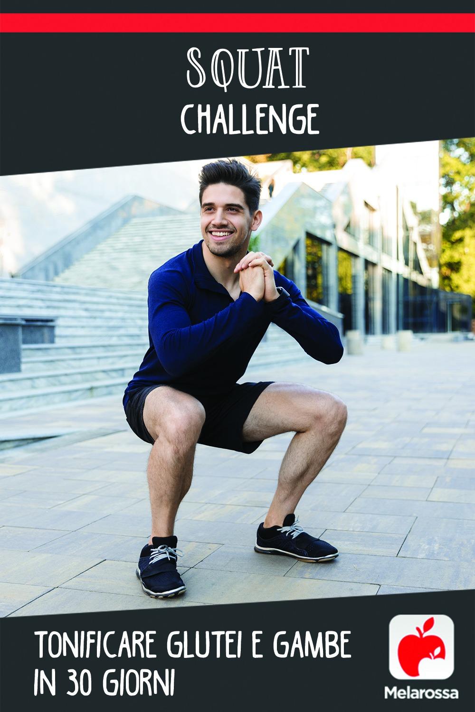 tonificare i glutei con lo squat challenge