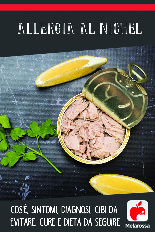 allergia al nichel: cos'è, cause, sintomi e dieta da seguire
