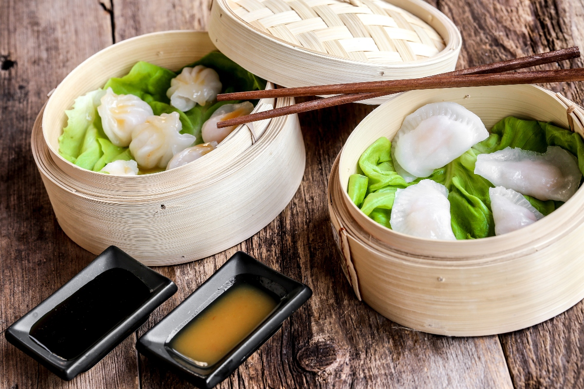 cottura a vapore: ravioli cinesi