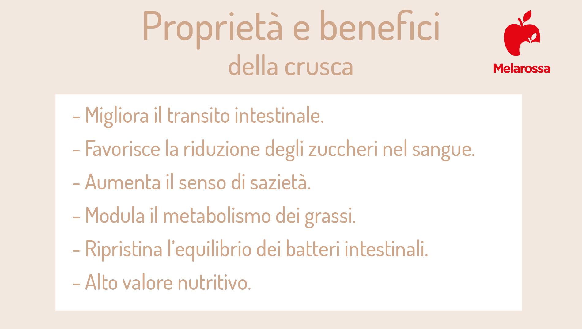 crusca: proprietà e benefici